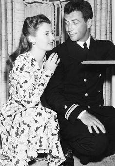 Barbara Stanwyck: Barbara and husband Robert Taylor at home, 1942