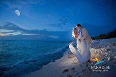 Moonlit Beach Wedding Portrait www.MyParadisePhoto.com