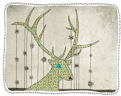 deer art illustration children digital wall art by aliette, $25.00