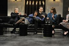 "Saturday Night Live: Christoph Waltz, Fred Armisen, Bill Hader, Vanessa Bayer // "" Regine"" [Photo Credit: ©2013/Dana Edelson/NBC]"