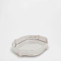 Metallic silver decorative tray - ACCESSORY AND DECORATIVE - DECORATION - New Collection | Zara Home United States of America