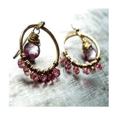 Pink Topaz with Pink Tourmaline Earrings