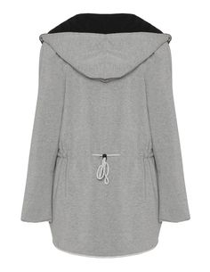 Two tone cotton blend jacket in Light-Grey / Black designed by Muza to find in Category Jackets at navabi.de