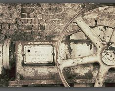 Rusty Gear Art Print, Old Machinery Photo, Industrial Wall Art Print