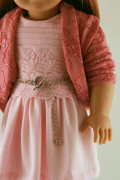 American Girl Doll Clothes Pink Knit Dress by Forever18Inches