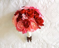 red peony wedding bouquet - Google Search