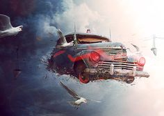 The PoPo sky run ~ Hot Digital Art by Brice Chaplet