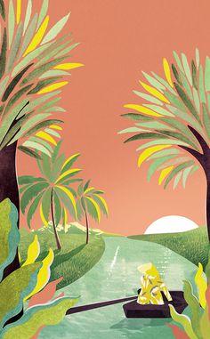 VO | Valérie Oualid : Agent d'illustrateurs | Léa Morichon | Sud Lointain Art Inspo, Indian Art Paintings, Art Et Illustration, Art Moderne, Art Design, Pattern Art, Landscape Art, Cute Drawings, Vector Art
