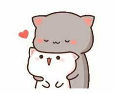 With Tenor, maker of GIF Keyboard, add popular Cat Love animated GIFs to your conversations. Cute Couple Cartoon, Cute Cartoon Pictures, Cute Love Cartoons, Cute Anime Cat, Cute Cat Gif, Cute Bear Drawings, Cute Kawaii Drawings, Cute Love Pictures, Cute Love Gif