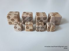 Larger dice - side, inspired in late century dice. Smaller dice - side, inspired in period before the larger ones :) 15th Century, Dice, Larger, Period, Medieval, Inspired, Inspiration, Biblical Inspiration, Mid Century