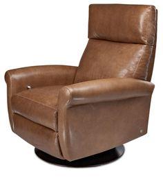 American Leather | Ava Medium Swivel Recliner