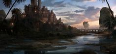 Environment paintings on Behance