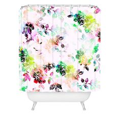 CayenaBlanca Romantic Flowers Shower Curtain | DENY Designs Home Accessories
