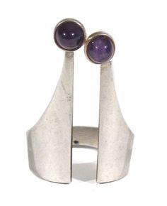 Kupittaan kulta, sterling silver and amethyst crown ring