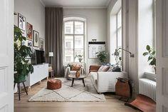 Квартира с высокими потолками и антресольной спальней в Стокгольме | Пуфик - блог о дизайне интерьера