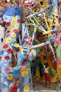 Salvation Mountain is the colorful creation of Leonard Knight.  Salvation Mountain can be found in what is known as Slab City near Niland, Imperial Valley, California.
