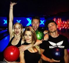 Friends who bowl together... Jaime went bowling for her birthday with Hart of Dixie co-stars Scott Porter, Hassie Harrison and Wilson Bethel