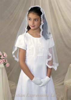 $39.95, First Communion Mantilla-V800