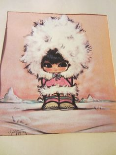 gerda christoffersen print of Eskimo Girl Big Eyes by kookykitsch, $14.00