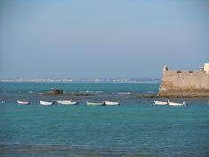 En la playa de Cádiz