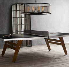Black Steel & Wood Table Tennis word love for back yard