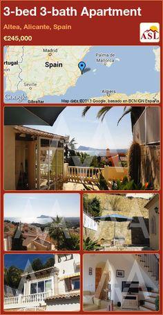 3-bed 3-bath Apartment in Altea, Alicante, Spain ►€245,000 #PropertyForSaleInSpain