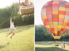 Love Is In The Air ✈ Hot Air Balloon Wedding Inspiration