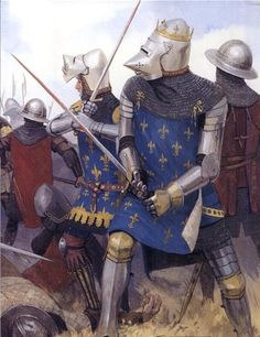King John II of France at the Battle of Poitiers 1356.