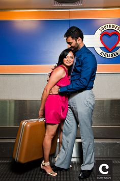 Engagement photos!  This couple has a special place in their hearts for Southwest.  It's LUV!
