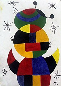 El Nino - Oil Painting On Paper - Joan Miro