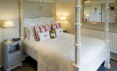 Boutique hotel near Rye - Rye Bay Cottage - Hastings View Four Poster Bed, Poster Beds, Interior And Exterior, Interior Design, Tudor House, Modern Cottage, Rye, Bed And Breakfast, Modern Design
