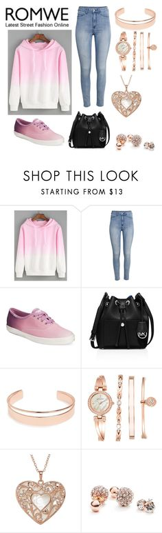"""Untitled #694"" by desertunknownwolf ❤ liked on Polyvore featuring H&M, Keds, MICHAEL Michael Kors, Leith, Anne Klein and GUESS"