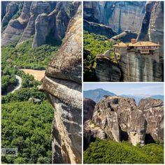 Meteora  Greece by stavrosmarmaras  Greece Meteora landscape mountain mountains rocks travel stavrosmarmaras