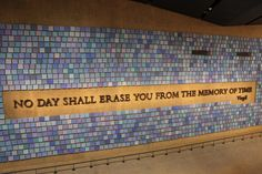 The colors represent the colors of the sky as described by witnesses that day, Sept. 11, 2001.  WTC Memorial, New York
