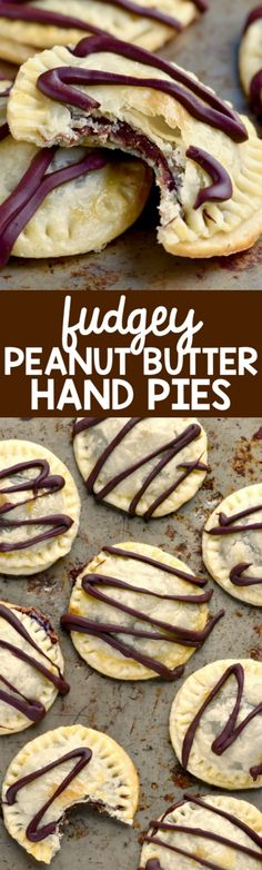 Fudgey Peanut Butter Hand Pies that are only four ingredients and are super delicious!