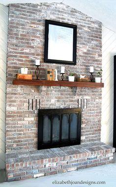Brick fireplace with side shelving HOMEY Pinterest Brick