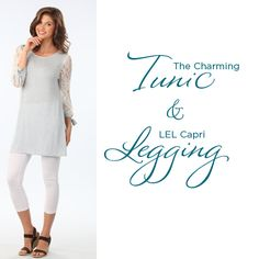 There's a good reason why we call it the Charming Tunic, and it pairs gloriously with both leggings and jeans. Even better, it's yours at 50% off when you buy any two pairs of leggings: http://www.longelegantlegs.com/tunics-and-leggings #TallFashion #Tunics #Leggings