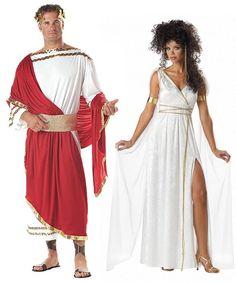 Greek Goddess Roman Caesar Adult Couples Costume Set Med Stdsize One Size | eBay