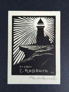 EX-Libris -P-Neville-Barnett-for-C-Hepburn-SIGNED