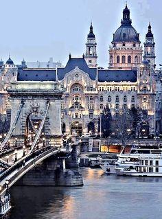 Bridge on the Danube, Budapest, Hungary
