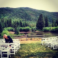 Private mountain valley setting at the Ski Tip Lodge in Keystone, Colorado. www.celebrationsbykat.com