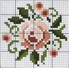A Rose. Cross stitch chart. #cross_stitch