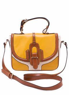 flapover colorblock handbag  $50.60