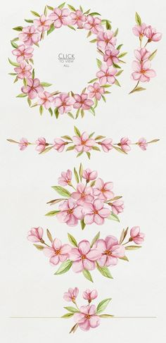 Blossoms. Spring watercolor set by NataliVA on Creative Market