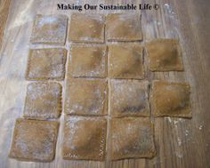 Making chicken/broccoli ravioli in cheese sauce