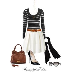 A fashion look from September 2012 featuring Wet Seal sweaters, Forever New skirts and Jimmy Choo pumps. Browse and shop related looks.