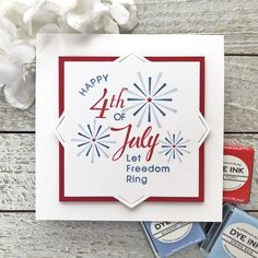 Happy 4th of July Card by Lexi Daly for Papertrey Ink (May 2018)