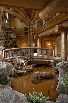 Awesome 22 Elegant Rustic Home Design Ideas Whatever your position, if you want the thought of getting back again to nature, you will want to think about setting up a rustic home? You don't have to relocate [Continue Read] Rustic Home Design, Dream Home Design, My Dream Home, Rustic Homes, Cabin Design, Western Homes, Modern Design, Log Cabin Homes, Log Cabins