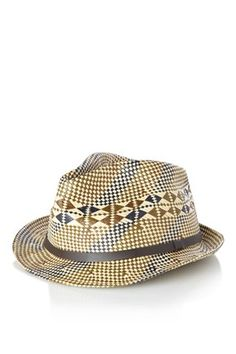 Geo Trilby Hat - Mens Accessories - French Connection