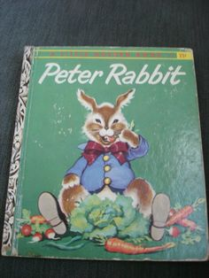 Little Golden Book PETER RABBIT dated 1958 A by LuvMeTwoTimes, $9.95